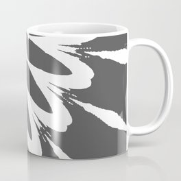The Modern Flower Dark Gray Coffee Mug