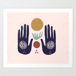 Hasma Hand Mural Art Print