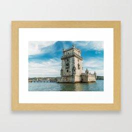Belem Tower of Saint Vincent In Lisbon, Wall Art Print, Historic Architecture Art, Poster Decor Framed Art Print