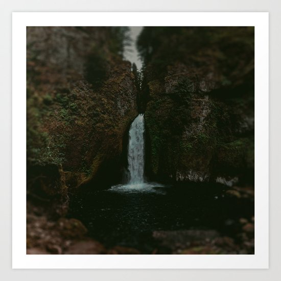 Wahclella Falls x Oregon Waterfall Art Print