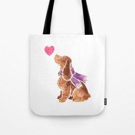 Watercolour English Cocker Spaniel Tote Bag