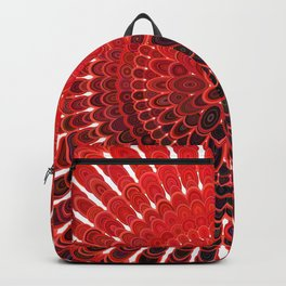 Red Flower Mandala Backpack
