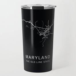 Maryland State Road Map Travel Mug