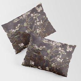 Vincent Van Gogh Almond Blossoms dark gray slate Pillow Sham