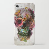 navy iPhone & iPod Cases featuring SKULL 2 by Ali GULEC