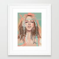 dreamcatcher Framed Art Prints featuring Dreamcatcher by Chelsea Hantken