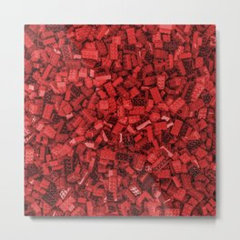 Master builder red Metal Print