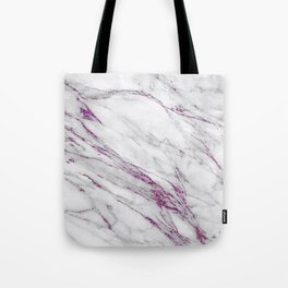 Gray and Ultra Violet Marble Agate Tote Bag