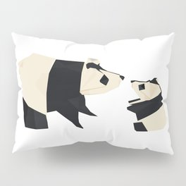Origami Giant Panda Pillow Sham