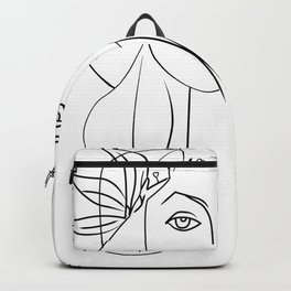 Picasso lady  Modern Sketch Picasso Art Modern Minimalist Backpack