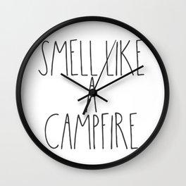 Smell Like a Campfire Wall Clock