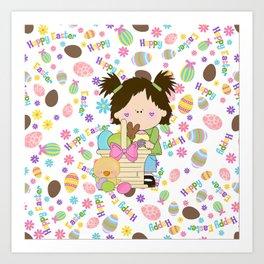 Happy Easter Eggs Art Print