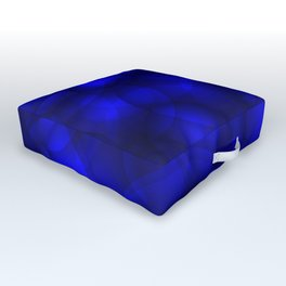 Glowing blue soap circles and volume sea bubbles of air and water. Outdoor Floor Cushion