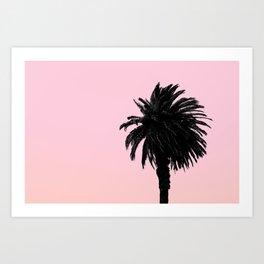 Single Palm - Peach Art Print