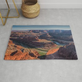 Photo USA Dead Horse Point State Park Utah Nature Canyon mountain park Rivers canyons Mountains Parks river Rug