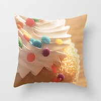 cupcake Throw Pillows featuring cupcake by Susigrafie