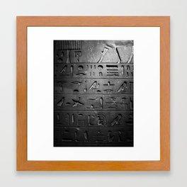 Shopping List Framed Art Print