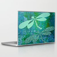 dragonfly Laptop & iPad Skins featuring Dragonfly  by Saundra Myles
