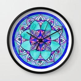 Sacred Water Mandala Wall Clock