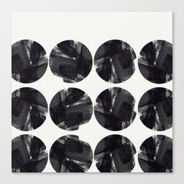 minimal brush stroke geometrical pattern Canvas Print