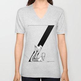 Mermaid Alphabet Series - Z Unisex V-Neck