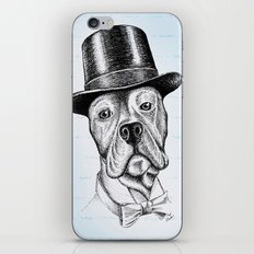 I'm too SASSY for my hat! Vintage Pup. iPhone & iPod Skin