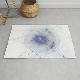 Geometric techno electro shape fractals party Rug
