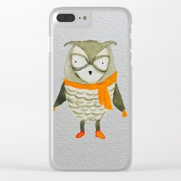 Wise Owl Forest Friends Baby Animals Clear iPhone Case