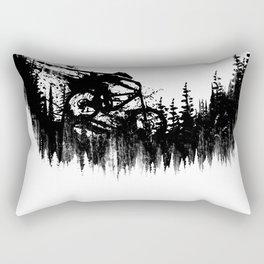 Black Drop Rectangular Pillow