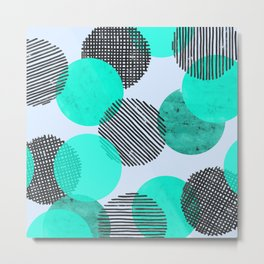 Blue Dot Pattern Metal Print