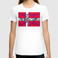 denmark T-shirts featuring circuit board Flag (Denmark) by seb mcnulty