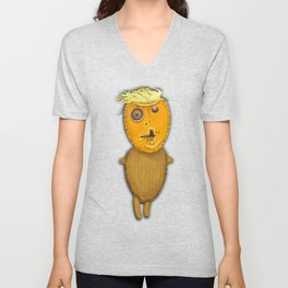 Orange Voodoo Doll Unisex V-Neck