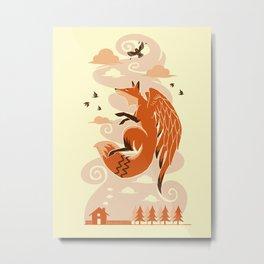 The Flying Fox's First Flight Metal Print