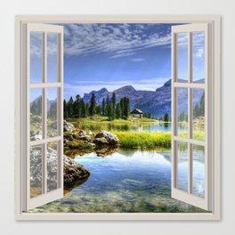Beautiful Lake | OPEN WINDOW ART Canvas Print