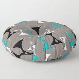 Mid-Century Hourglass Floor Pillow