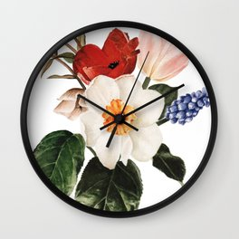 Spring Flowers Bouquet Wall Clock