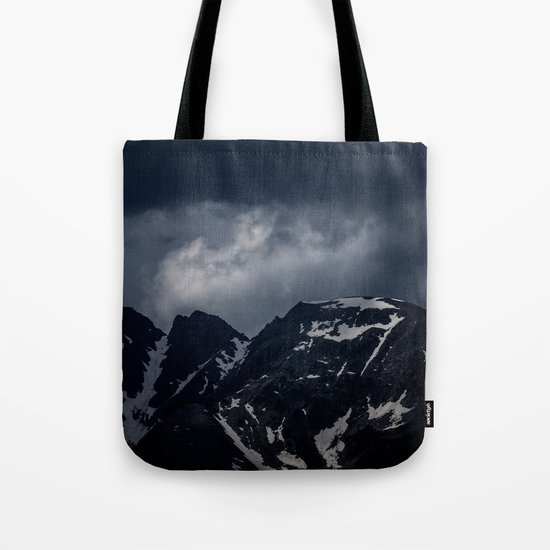 Dark Mountain mood Tote Bag
