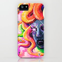 Rainbow Medusa iPhone Case