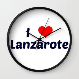 I Love Lanzarote Wall Clock