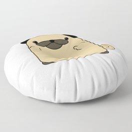 Pug Flipping Double Bird Floor Pillow