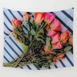 Sketchy Roses Wall Tapestry