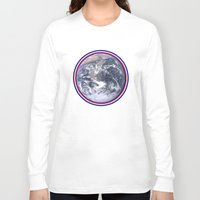 earth Long Sleeve T-shirts featuring Earth by Spooky Dooky