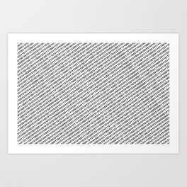 Binary Code - diagonal version Art Print