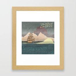Ship - inspired by Zebrat Framed Art Print