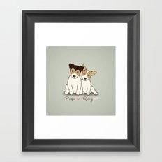 Pogo and Roxy Framed Art Print
