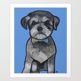 Gus the schnauzer mix Art Print