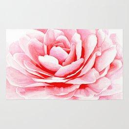Watercolor Pink Camellia Rug