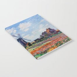 Claude Monet Tulip Field In Holland Notebook