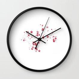 Moon Sakura Flowers japanese cherry blossom Wall Clock