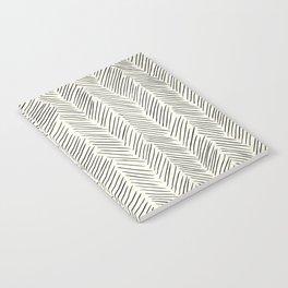 Herringbone Black on Cream Notebook